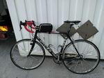 Bicicletta Wolf telaio in alluminio leggero e forcelle(avanti e dietro)in carbonio.Cambio Campagnolo
